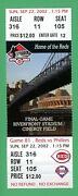 Cinergy Field Riverfront Stadium Reds Last Game Played Mint Ticket 9/22/2002