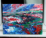 Go With The Flow . Original Abstract Painting . Fitz.