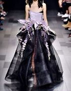 Marchesa Spring/summer Andlsquo18 Mesh Floral Gown Size 8 Unaltered