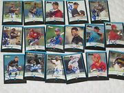 Lot Of 87 Different Signed Autographed 2001 Bowman Baseball Cards-rcs-stars