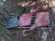 Large Antique Industrial Iron Block And Tackle 3 Pcs. Lot Steampunk