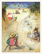 Wee Forest Folk Note-13 Beach Note Cards Set Of 6