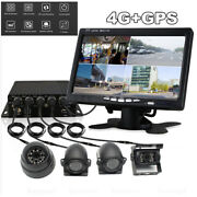 7 Lcd Monitor+4x Ccd Cameras+4ch Dvr Gps Realtime Video Recorder For Truck Bus