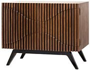 40 W Sideboard Angled Black Metal Legs Hand Crafted Solid Walnut Double Doors