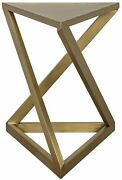 26 T Set Of Two Z Side Table Modern Contemporary Antique Brass Metalwork