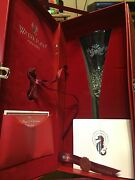 Waterford Crystal 12 Days Of Christmas Fluted Champagne Glass Two Turtle Doves