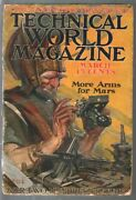 Technical World Magazine 3/1915-sci-fi Cover-aviation-war-arms For Mars-g