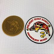 2 Philmont Scout Ranch Cimmarron N.m. Patches, Back, Leather, All Nice