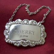 Hallmarked Solid Sterling 925 Silver Decanter Label / Tag - Francis Howard 1986