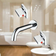 Three Holes Wall Mounted Bathroom Sink Tub Shower Faucet Mixer Tap Chrome 666