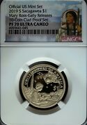 2019 S Ngc Proof 70 Ucam Native American Mary G. Ross Dollar☆early Release☆label