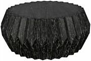38 W Ali Coffee Table One Of A Kind Solid Mindi Wood Black Finish Contemporary