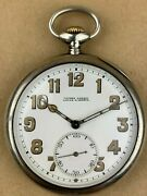 Ulysse Nardin Usa Corps Of Engineers 0.800 Silver Antique Pocket Watch 9501