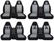 Fits Ford Ranger/truck Car Seat Covers 60-40 Console Not Included Blk-silver.