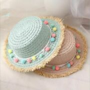 Child Sun Hats Summer Color Ball Stylish Casual Floppy Wide Brimmed For Children