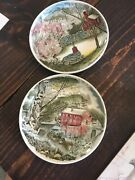 Johnson Brothers Fine China Coasters, Set Of Two Rare Patterns