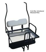 Pure White Golf Cart Rear Flip Seat Club Car Ds 2000.5 - 2013 W/ Roof Supports