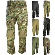Clearance Army Special Ops Trousers Mens Built In Knee Pads Workwear Mtp Camo