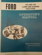Ford Lgt-125 Lgt-145 Lawn Garden Tractor Owners Manual 12 14 H.p Jacobsen Mower