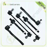 For 2007-2010 Hyundai Elantra 4x Inner Outer Tie Rods 2x Front Sway Bar Links