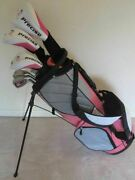 New Tall Ladies Graphite Golf Set Complete Driver Wood Hybrid Irons Putter Bag