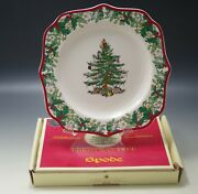 Spode 2008 Christmas Tree Annual Plate Fancy Square 70 Anniversary New In Box