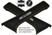 Yellow Stitch 2x Rear C Pillar Suede Covers Fits Mercedes W202 C Class 93-00