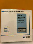 Hp / Agilent 08662-90031 Hp 8662a Synthesized Signal Generator Ops/svc Manual