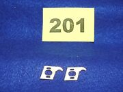 Set Of Two Champion Of Chamblee Brass Slot Car Motor Mounting Plates 1960and039s
