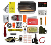 Mess Tin Survival Kit With Orange Molle Pouch Esee Knives Wilderness Emergency