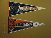Nfl Chicago Bears Vintage 1988 2018 Central And North Division Champions Pennants