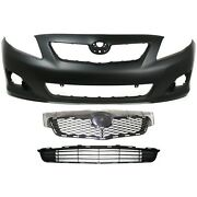 Bumper Cover Kit For 2009-2010 Toyota Corolla Front Primed