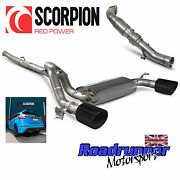 Scorpion Focus Rs Mk3 Exhaust System Non Res And Cat Downpipe And Valve Black