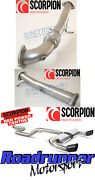 Scorpion Focus Rs Mk2 Exhaust 3 Downpipe De Cat And Cat Back System Non Res Black