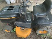 Poulan Pro Riding Mower. It Works But It Needs New Battery And Sensor.