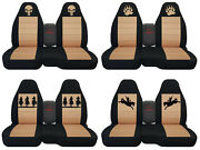 Fits Ford Ranger/truck Car Seat Covers 60-40 Console Not Included Blk-tan...