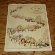 1926 - 1927 Lincoln Travelogue Of Art And Transportation Deluxe Sales Brochure