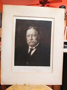 Signed 5th Plate William Howard Taft Etching By Otto Schneider