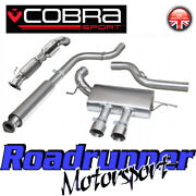 Cobra Focus St250 Mk3 Exhaust System 3 Resonated And Sport Cat Downpipe Fd47a