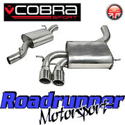 Cobra Audi S3 8p 2.0 Cat Back Exhaust System 3 Stainless Resonated 3 Door Au08