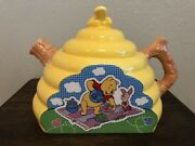 Winnie The Pooh Piglet Picnic Honey Tea Pots Disney Never Used Display Only