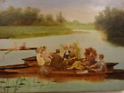 Jules Scalbert 1851andndash1928 Signed Small Oil Painting On Panel