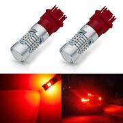 2x Gtp 3157 3156 Super Red Led 2000lm Brake Turn Signal Parking Taillight Bulbs