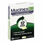 Mucinex Dm Expectorant And Cough Suppressant 600mg Extended-release 6 Pack