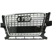 Grille For 2009-2012 Audi Q5 3.2l Engine W/ S-line Package Gloss Black Plastic