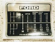 Tractor Gear Shift Decal To To Fit Ford 8-speed 5000 5100 5600 6600 6700 7000