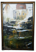 Calais By Paul Vernes Giclee Canvas Print 1/500 Abstract Landscape France 80