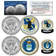 Air Force And Usaf Intelligence Branch Jfk Half Dollar Armed Forces 2-coin Set