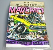 Vintage 1969 Hanes Graphic T-shirt New In Package Ford Maverick Roach Design