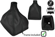 Black Stitch Leather Manual Shift Boot+plastic Frame For Volvo 240 740 940